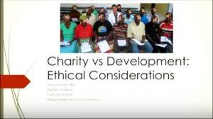 Charity vs Development:  Ethical Considerations
