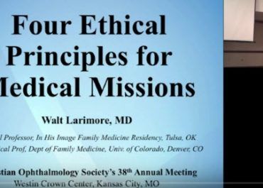 Four Ethical Principles for Medical Missions