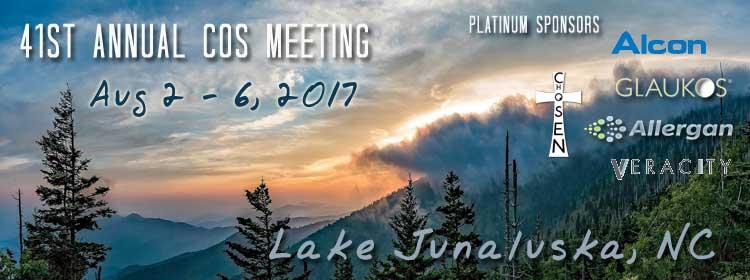 41st Annual COS Meeting - Lake Junaluska